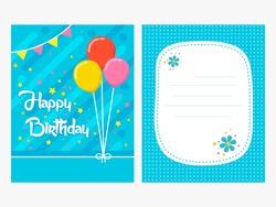 Vector cute birthday card