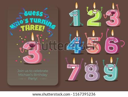 vector cute birthday poster