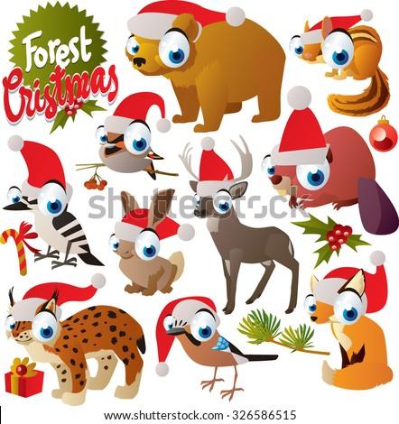 vector cute cartoon christmas