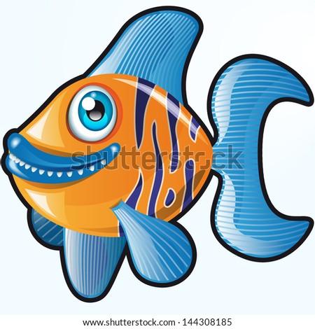 vector cute cartoon fish