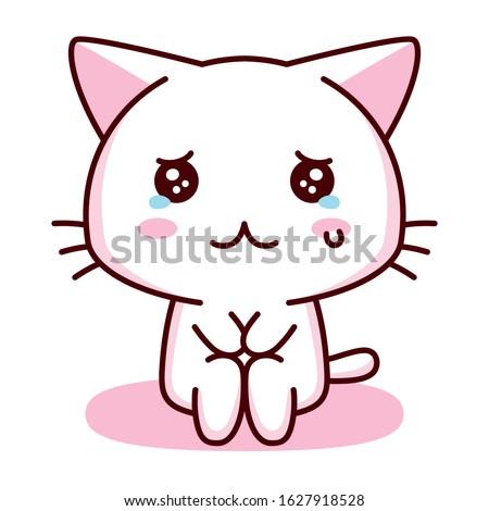 vector cute cartoon kawaii sad
