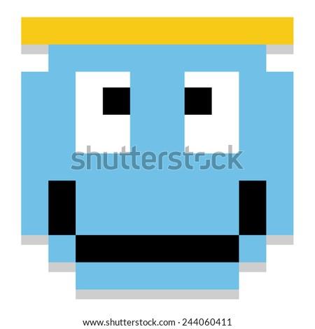 vector cute cartoon pixel angel