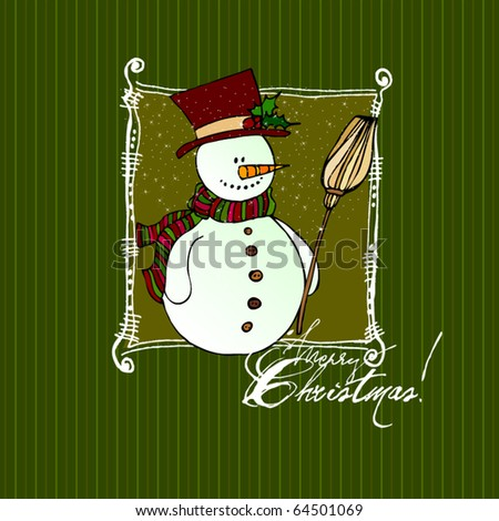 vector cute Christmas background for your greeting card