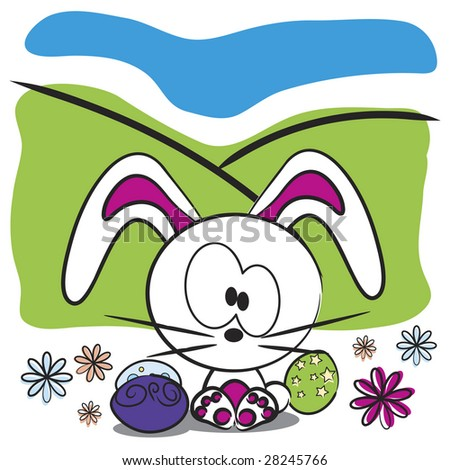 cute easter bunnies pictures. Vector cute Easter bunny