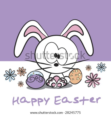 easter bunny cartoon pictures. Vector cute Easter bunny
