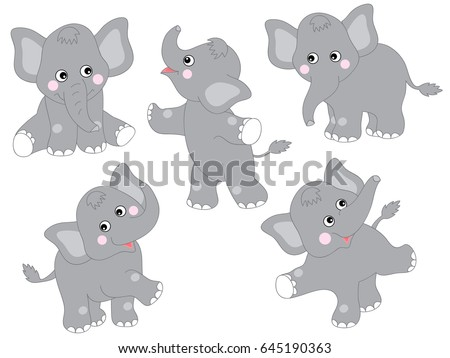 vector cute grey cartoon baby