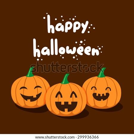 vector cute happy halloween