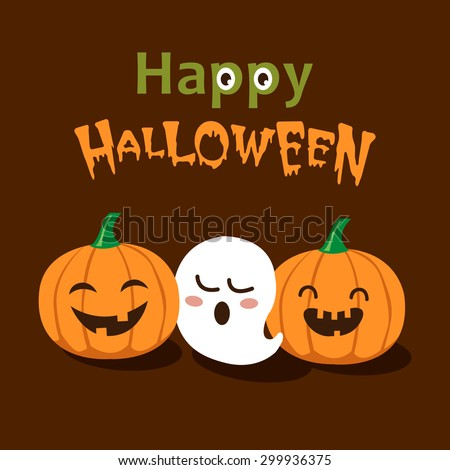 vector cute happy halloween