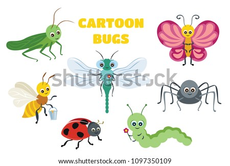 vector cute insect collection