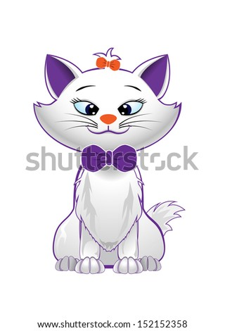 vector cute kitty character on