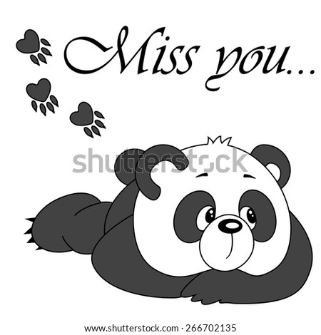 vector cute panda isolated on