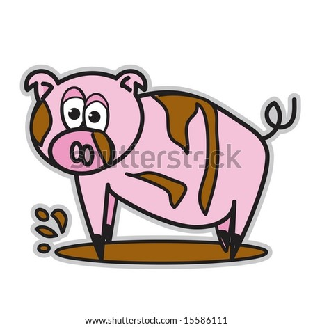 Pig in Mud Clip Art http://www.shutterstock.com/pic-15586111/stock-vector-vector-cute-pointy-toe-pink-pig-in-mud-puddle.html