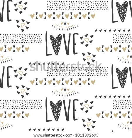 vector cute seamless pattern