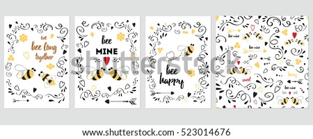 vector cute set of birthday