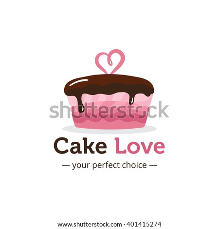 vector cute shiny pink cake