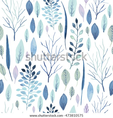 vector cute watercolor seamless