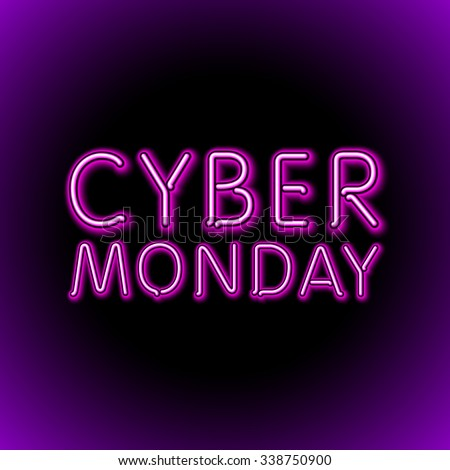 Vector cyber monday sale background. Vector illustration of embossed letters on pink blurred background. text. art