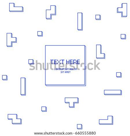 vector cyber tetris figure