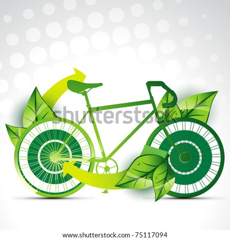 vector cycle on eco nature background