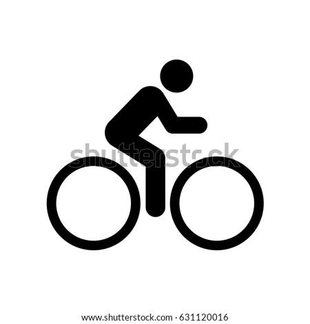 vector cyclist icon bike