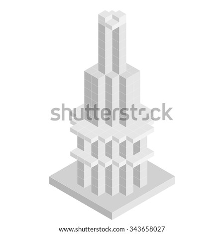 vector 3d abstract building