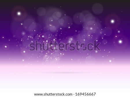 vector 3d abstract purple scene
