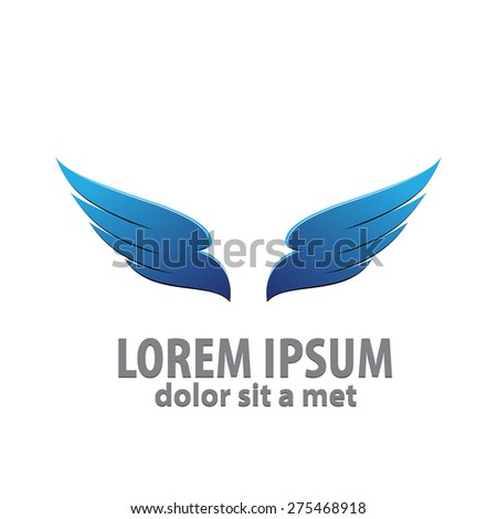 vector 3d abstract wing flying
