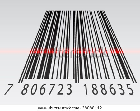 3d barcode image. vector : vector 3d barcode
