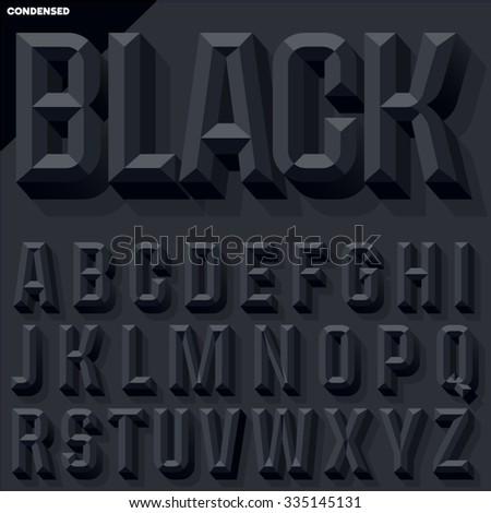 vector 3d black condense