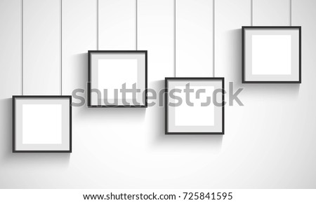 hanging photo frame on gray background - Download Free Vector Art ...