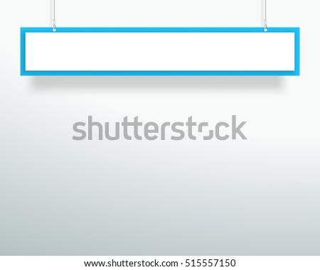 vector 3d blank blue 1 line