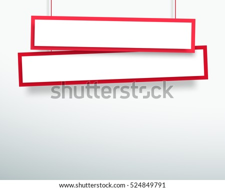 vector 3d blank red 2 line