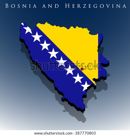 vector 3d bosnia and