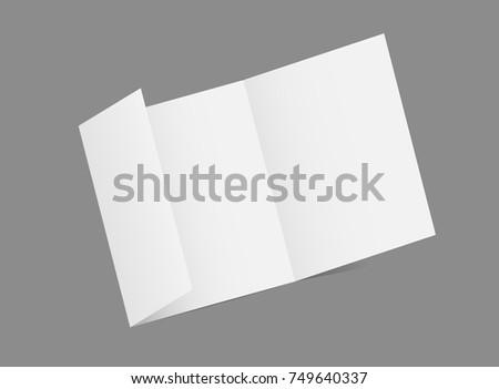 vector 3d brochure mockup  white mock up