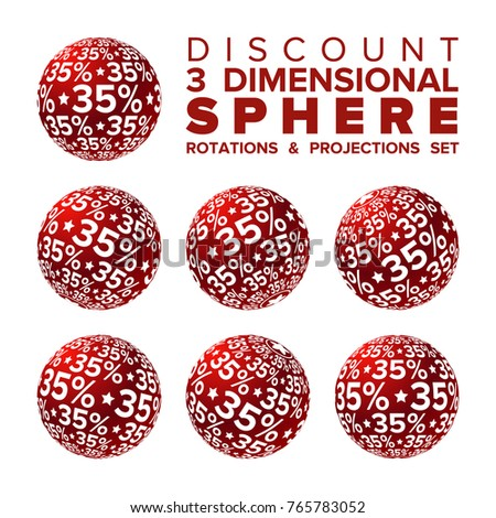 vector 3d christmas red and