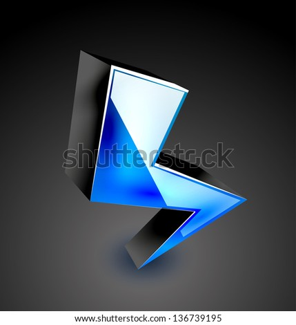 Vector 3d colorful lightning icon design