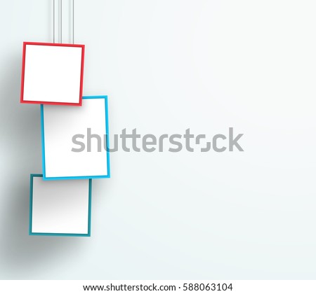 Vector 3d Colourful 3 Abstract Hanging Frames