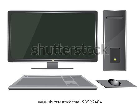 vector 3d computer.