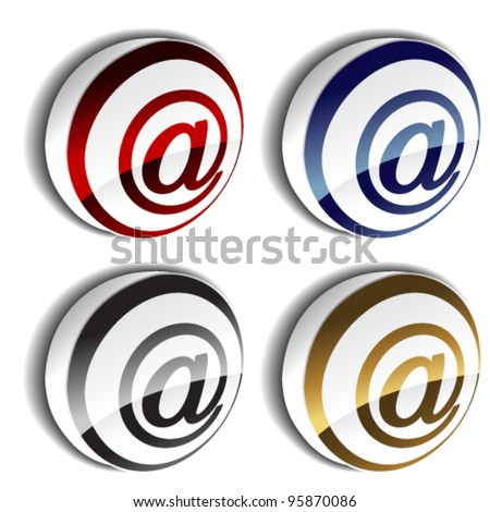 Vector 3D e-mail icons