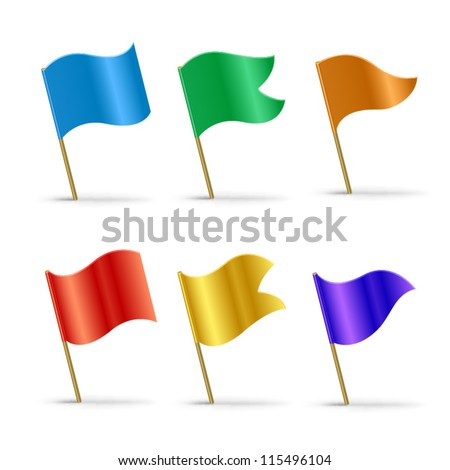 vector 3d flags - stock vector