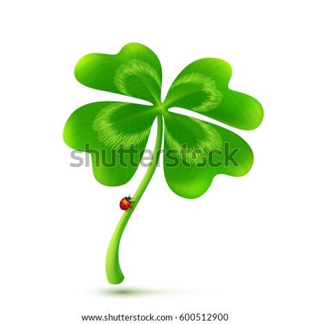 vector 3d four leaf clover