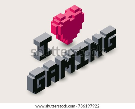vector 3d gaming pixel icon