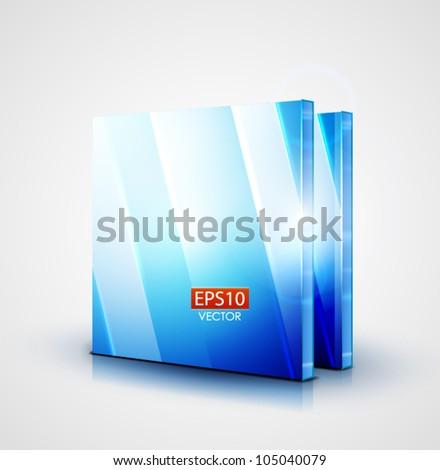 Vector 3d glass blue screen