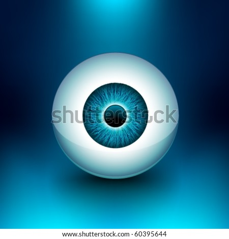 vector 3d glossy eyeball