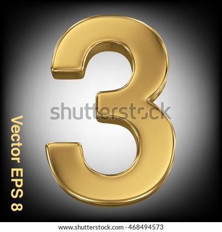 vector 3d golden number