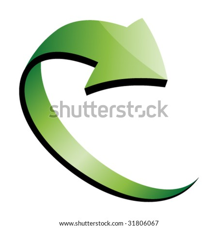 Vector 3d Green ...D Arrow Logo