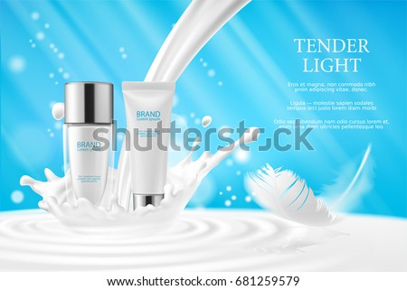vector 3d illustration  cream