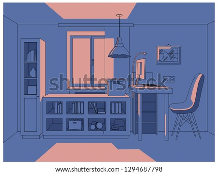 vector 3d illustration   living