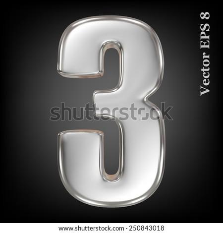 vector 3d metal number