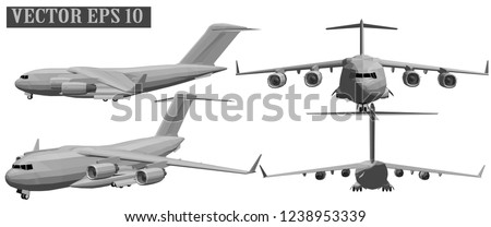 vector 3d military aircraft